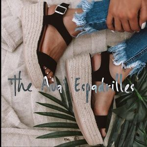 Shoes - 'The Ava' Espadrilles In Black
